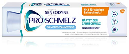 Sensodyne ProSchmelz Sanftes Zahnweiß, tägliche Whitening Zahnpasta mit Fluorid, bei säurebedingtem Zahnschmelzabbau, 1x100ml
