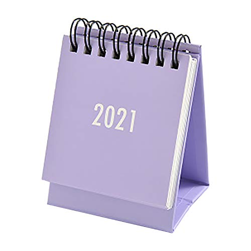 jieGorge 2021 small desk calendar s imple solid color plan book mini calendar decoration, Kitchen,Dining & Bar for Easter Day (Purple)