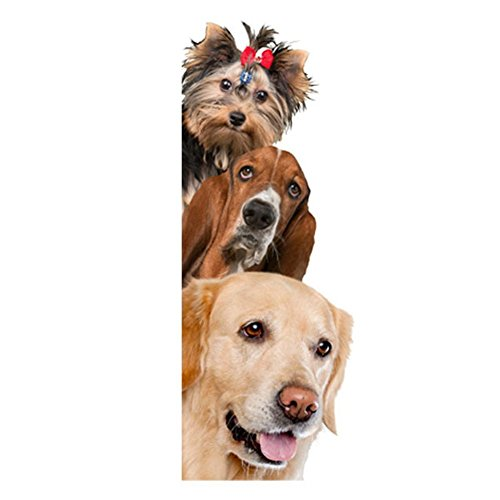 Brussles08 Removable 3D Cute Dog Cat Wall Sticker Switch Decal Mural Art Decor Poster Background Wallpaper