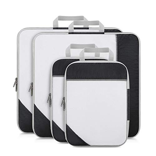 YuuHeeER Extensible Storage Travel Luggage Organizers Mesh Bags Laundry Bag Compression Packing Cubes