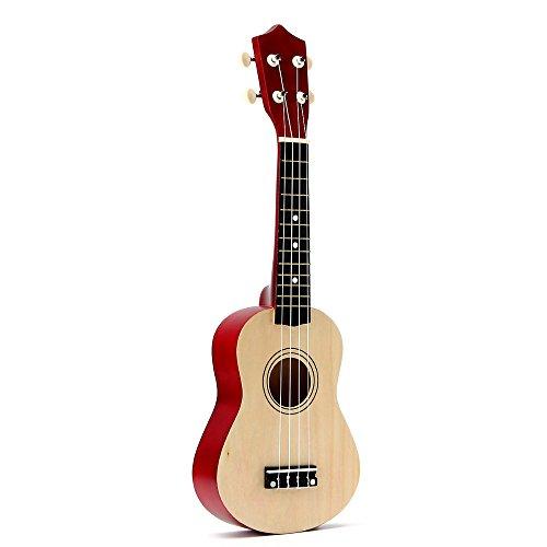 Monland - Ukelele soprano (21 pulgadas, 4 cuerdas, para guitarra, ukelele hawaiano, cuerdas y púas, para regalo de niño)