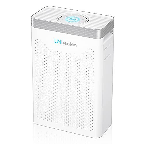 Purificador de Aire, Sensor LED Inteligente de Calidad del Aire, Habitación de 68m², Elimina el 99.97% de Polvo, HEPA Verdadero 5 en 1, Captura Alergias, Polvo, Humo, Caspa de Mascotas,Olor, PM2.5