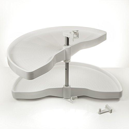 Sotech Eckschrankdrehbeschlag Halbkreis Drehbeschlag 1000er 1/2-Kreisboden für 100er Eckschrank mit weißen Drehböden von SO-TECH® - Made in Germany