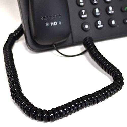 Teléfono Auricular Spire RJ10 Clavija a RJ10 Clavija Cable Cable Negro 3 m [3 metros/3m]