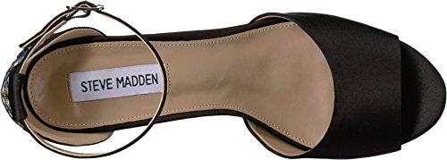 Steve Madden Women's Delilah Black Satin Sandal