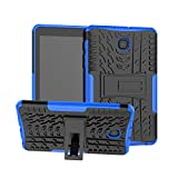 Maomi for Samsung Galaxy Tab A 8.0 inch Case 2018 Release ( Model:SM-T387),Kickstand Heavy Duty Cover [Not fit 2017 Released SM-T380/T385] (Blue)