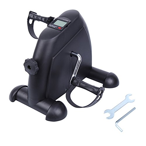 Paneltech Mini Bike Home Trainer Allenatore Braccia e Gambe Pedal trainer Pedale della bici esercizio con monitor LCD (Tutto nero)
