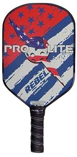 Prolite Rebel PowerSpin Pickleball Paddle (Red, White and Blue)