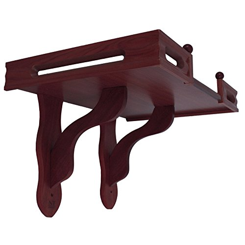 NT furniture Buddha Altar Shelf Stand Wooden Wall Rack Ming, (16x24x15 inches, Cherry)