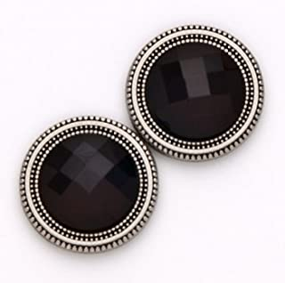 Magnebutton Sweater Clips - Magnet Closure Accessory (Black Crystals)