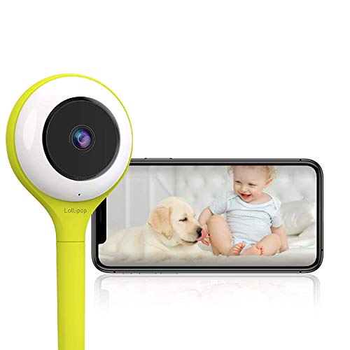 Lollipop Baby Camera with True Crying Detection, Smart Baby Monitor with Camera and Audio with Two Way Talk Back. an Ideal Gift for Baby Shower. Comes with Infrared Night Vision. (Pistachio)
