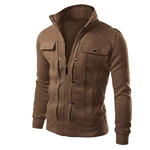 Los hombres de la chaqueta de primavera de los hombres sudadera de color sólido cremallera corta chaqueta casual delgado masculino chándales de los