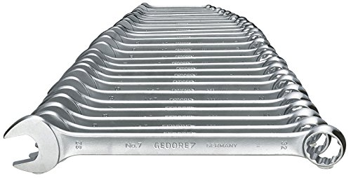 GEDORE Ring-Maulschlüssel-Satz 7-026 / 26-tlg. Schraubenschlüssel- und Ringschlüssel-Set aus Vanadium Stahl für Schrauben & Muttern mit Ø von 6 - 32 mm