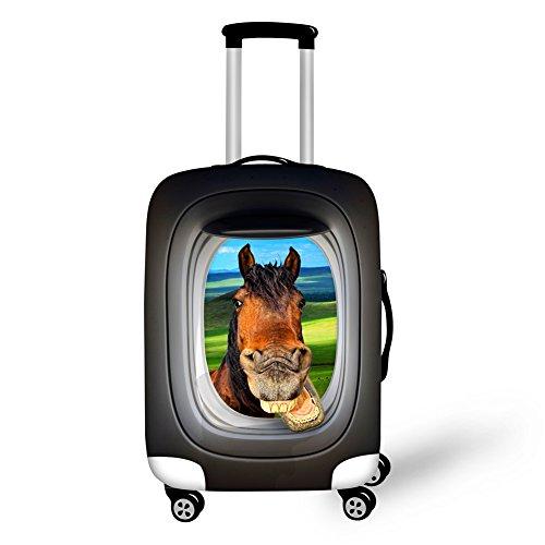 Hugs Idea Reisekoffer-Schutzhüllen mit lustigem Tiermotiv, für 45,7 - 76,2 cm Koffer, katze (Schwarz) - Y-C0066S