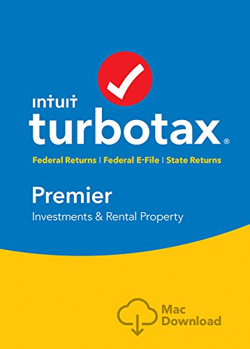 [Old Version] TurboTax Premier + State 2018 Tax Software [MAC Download] [Amazon Exclusive]