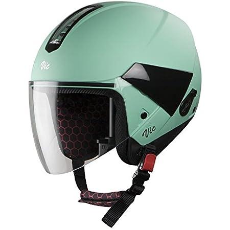 Steelbird Hi-Gn VIC Women's ABS Glossy Jade Green with Plain Visor Helmet , 560 mm