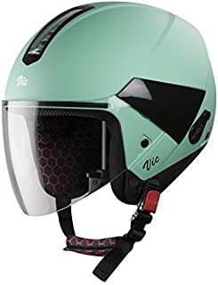 Steelbird Hi-Gn SBH-5 VIC Female Glossy Jade Green with Plain Visor,560 mm