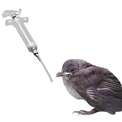 YuoungYuan Spritze Mit Schlauch Spritze Vogel Wasserspender Wellensittich Feeder Handaufzucht, Spritzen einziehend Haustier Spritze Papageienfutterautomat 50ml,3mm*5cm Tube