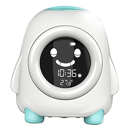 Gazechimp Reloj Despertador Digital para Niños de Escritorio, Moderno Reloj Despertador para Niños con Luz Nocturna, Repetición de 12/24 H para Niños Pequeños