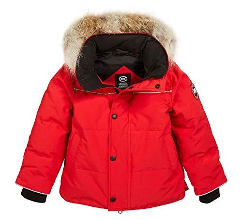 Canada Goose Kids Snowy Owl Winter Fur Parka Jacket Coat (6-7) Red