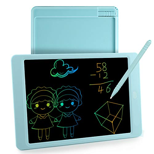 LCD Writing Tablet for kids ,10Inch Boogie Board with Stylus & Colorful Screen drawing tablet Gift at Home School Office(Blue)