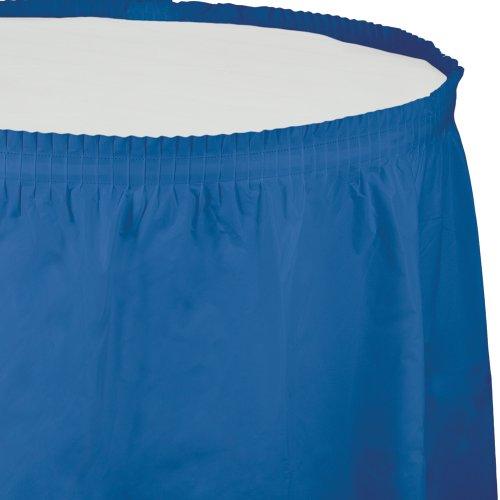 Creative Converting Plastic Table Skirt, 14-Feet, True Blue