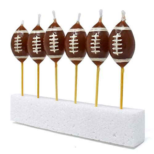 40YARDS American Football Kerzen (6 Stück) - Deko für den Geburtstagskuchen