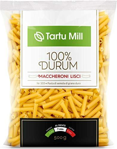 Maccheroni Lisci Pasta Dry 100% Durum Premium Tartu Mill Nr 103 (10 x 500g)