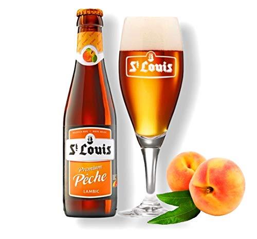 6 x St. Louis Peche Lambic Fruchtbier 0,25 l - Original Belgisches Pfirsichbier Go-beer.com