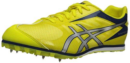 Asics - Männer Hyper Ld 5 Leichtathletik-Schuhe, - Fluorescent Yellow/Silver/Navy - Größe: 45,5 EU (M)