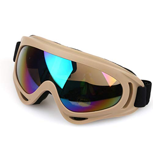 LYMQY Ski Glasses UV Protection Sport Snowboard Skate Skiing Goggles (Khaki)