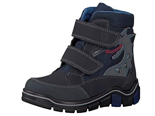 RICOSTA Pepino Jungen Winterstiefel GRISU, WMS: Mittel, wasserfest, leger Winter-Boots Outdoor-Kinderschuhe gefüttert,See/Ozean,27 EU / 9 UK