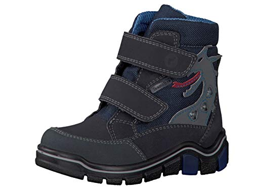 RICOSTA Pepino Jungen Winterstiefel GRISU, WMS: Mittel, wasserfest, Freizeit leger Winter-Boots Outdoor-Kinderschuhe warm,See/Ozean,29 EU / 11 UK