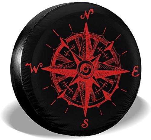 MODORSAN Compass Cubierta de neumático de Rueda de Repuesto Cubiertas de Rueda universales de poliéster para Jeep, Remolque, RV, SUV, camión, Accesorios, 16 Pulgadas
