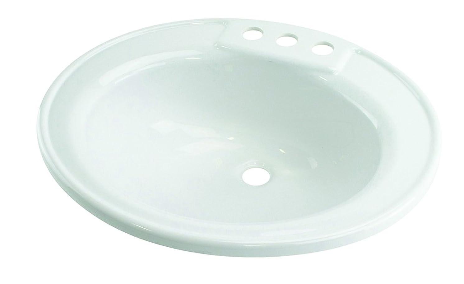 Lippert 209635 Better Bath RV Oval Lavatory Sink 17