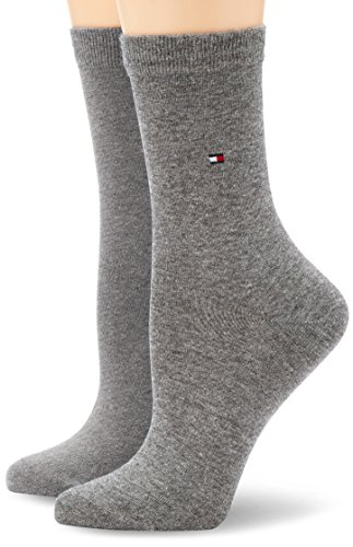 Tommy Hilfiger Frauen Casual Socken, Blickdicht, Middle Grey Melange, 35/38 (2er Pack)