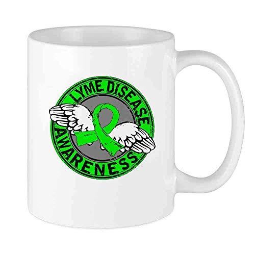 Kaffeebecher Lyme-Borreliose Bewusstsein 1 Benutzerdefinierte Tasse Einzigartige Keramik Neuheit Urlaub, die Teetassen Kaffeetasse lieben
