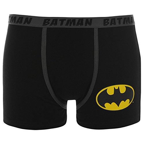 Dc Comics Hommes Batman Single Boxers Short Sous-Vêtement Caleçon Noir L