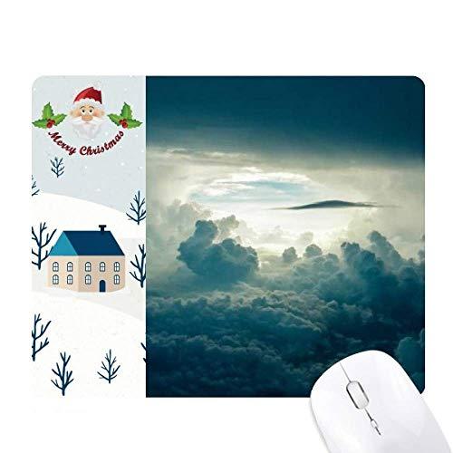 la lumière ciel gris nuages blancs cadeau de noël maison tapis de souris