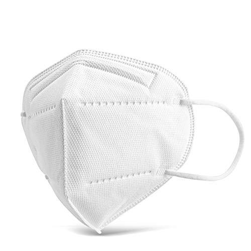 Eventronic 20 pezzi mascherine ffp2, design antipolvere, protettivo e confortevole, forniscono il miglior effetto filtrante, prevenzione e protezione
