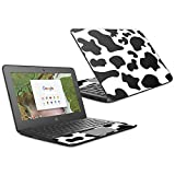 MightySkins Skin Compatible with HP Chromebook 11 G6 11.6' (2018) - Cow Print | Protective, Durable, and Unique Vinyl Decal wrap Cover | Easy to Apply, Remove, and Change Styles | Made in The USA