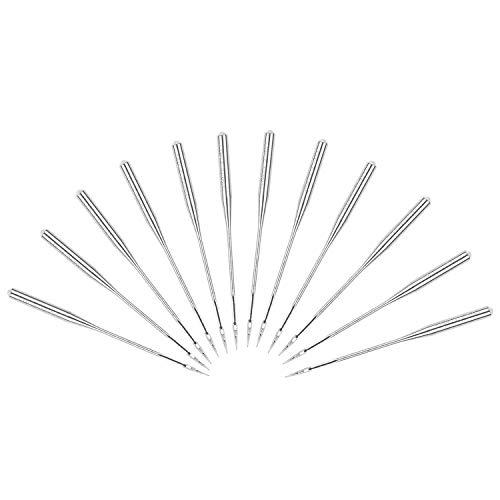 50 agujas para máquina de coser, punta de bola universal industrial, tamaños 65/9,75/11,80/12,90/14,100/16