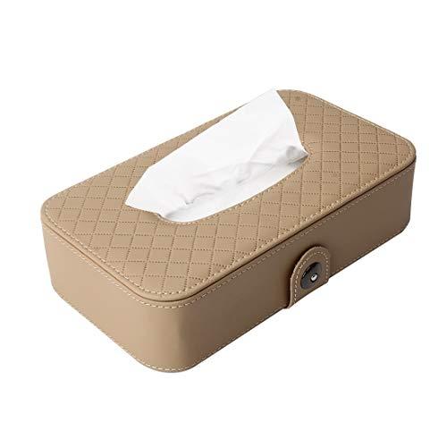 NoNo Universele auto-opbergdoos, opbergdoos, opbergdoos, textiel, opbergdoos, eenvoudig, papieren servetzakje met servet kaki