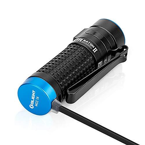 OLIGHT オーライト S1R Baton II LED懐中電灯 小型軽量 強力 LEDフラッシュライト1000 ルーメン IPX 8 防水 懐中電灯usb充電式 照射距離145メートル アウトドア ledハンディライト