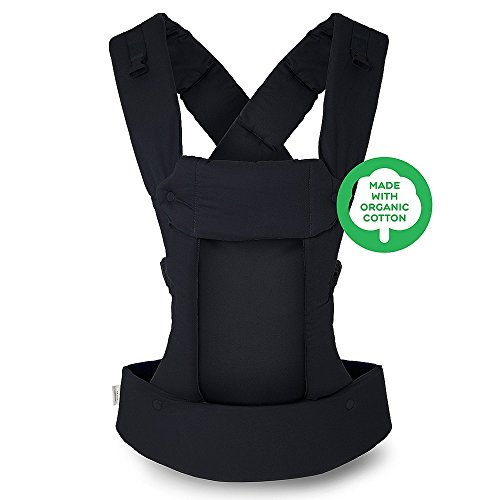 Beco Gemini Baby Carrier - Organic Metro Black, Sleek and Simple 5-in-1 All Position Backpack Style Sling for Holding Babies, Infants and Child from 7-35 lbs Certified Ergonomic