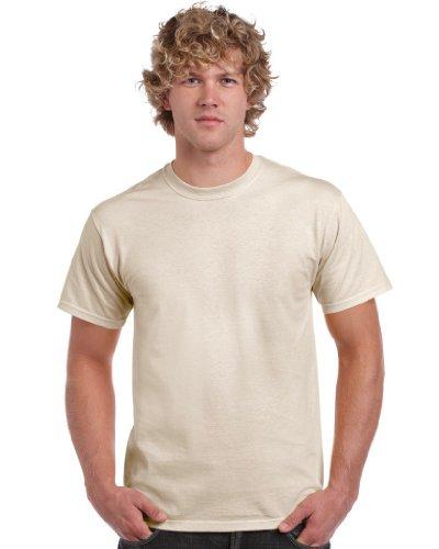 Gildan Herren Heavy Cotton Tee T-Shirt, Off-White (Natural), XL