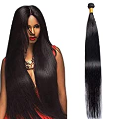 ♥Hair Material:10A Brazilian virgin human hair 100% unprocessed human hair Extensions. ♥Hair Color:Natural Color Human Hair Bundles; Can be Straightened,Curled,Bleached and Styled as your own hair. ♥Hair Quality:Double Machine Weft, High elasticity &...