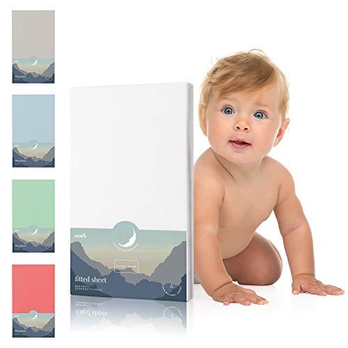 Laleni Spannbettlaken für Babybett Kinderbett - 60x120 bis 70x140 cm, atmungsaktiv, 100% Baumwolle
