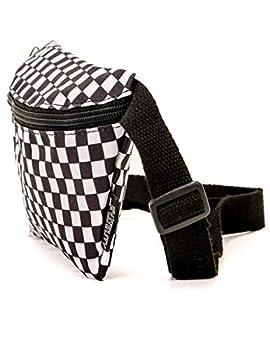 FYDELITY-Fanny Pack|Women Men|Crossbody Belt Bag Waist Packs|90s|Rugrat Check Black