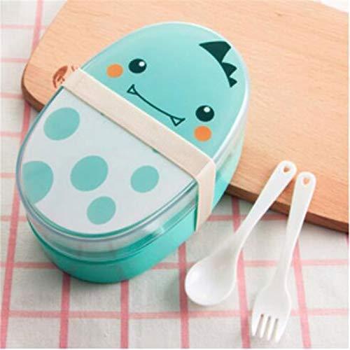 Heigmz FH Bento Box - Fiambrera portátil de gran capacidad de 700 ml, para microondas, contenedor de alimentos, vajilla y almuerzo con material de protección del medio ambiente (color azul)